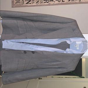 Anne Klein suit with Banana Republic Button up